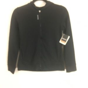 Reebok Girls Mesh Jersey Jacket Black